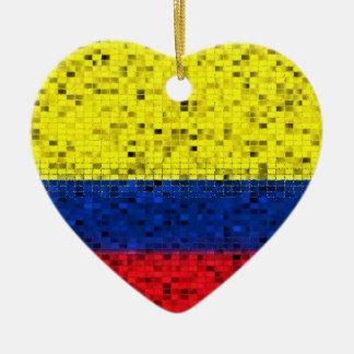 Colombia Flag glitter ornament