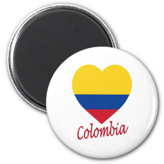Colombia Flag Heart Magnet