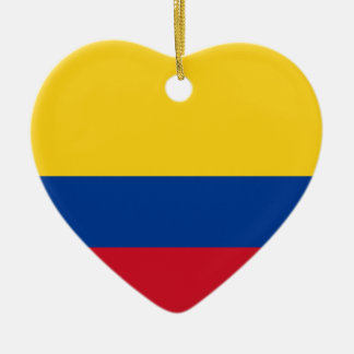 Colombia Flag Heart Ornament