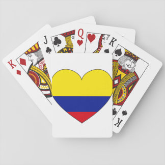 Colombia Flag Heart Playing Cards
