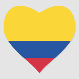 Colombia Flag Heart Sticker