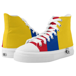 Colombia Flag High Top Shoes