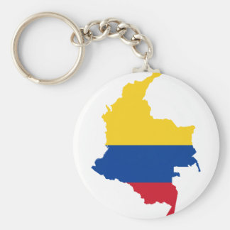 Colombia Flag map CO Key Ring