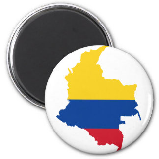 Colombia Flag map CO Magnet