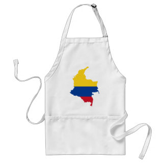 Colombia Flag map CO Standard Apron