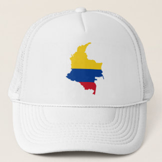Colombia Flag map CO Trucker Hat