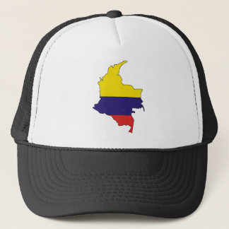 Colombia Flag Map full size Trucker Hat
