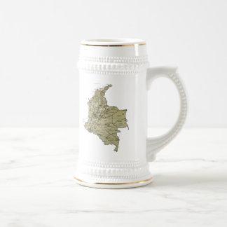 Colombia Flag ~ Map Mug