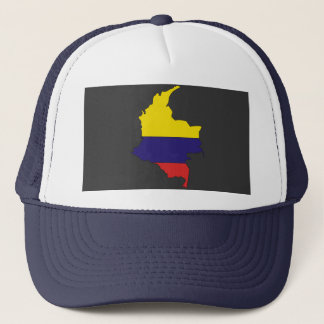 Colombia flag map trucker hat