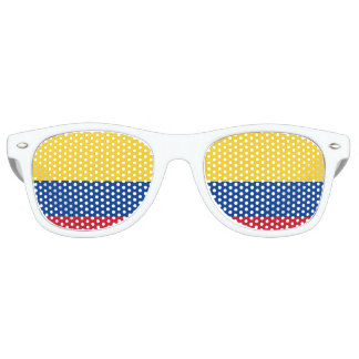 Colombia Flag Party Shades Sunglasses