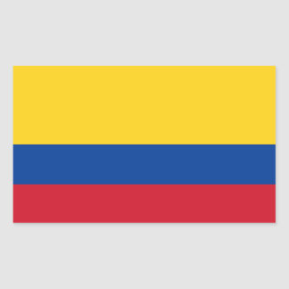 Colombia Flag Rectangular Sticker