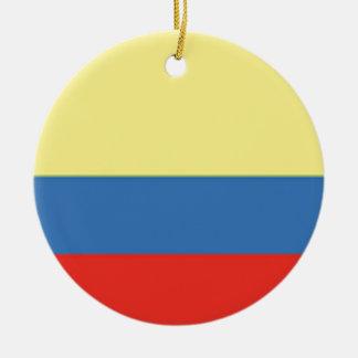 Colombia Flag Round Ceramic Decoration