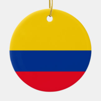 Colombia Flag Round Ceramic Decoration