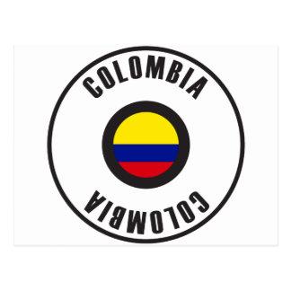 Colombia Flag Simple Postcard