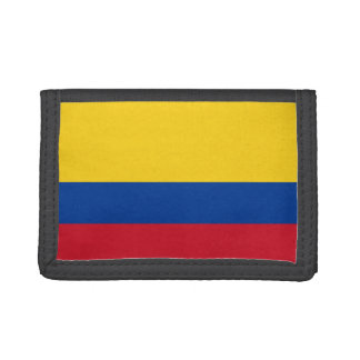 Colombia Flag TriFold Nylon Wallet