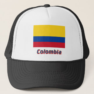 Colombia Flag with Name Trucker Hat