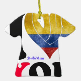 COLOMBIA FLAGS I LOVE  YOU   CUSTOMIZABLE PRODUCTS CHRISTMAS TREE ORNAMENTS