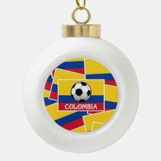Colombia Football Ceramic Ball Decoration