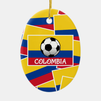 Colombia Football Ceramic Oval Decoration