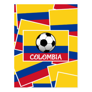 Colombia Football Postcard