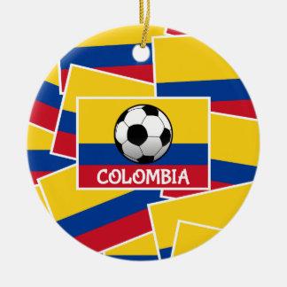 Colombia Football Round Ceramic Decoration