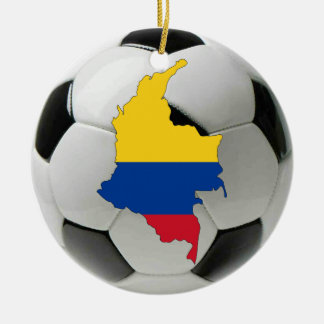 Colombia football soccer ornament