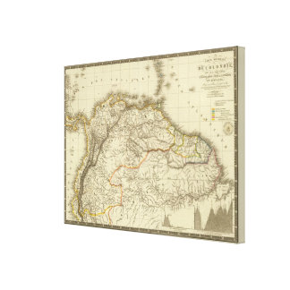 Colombia, French Guiana Canvas Print