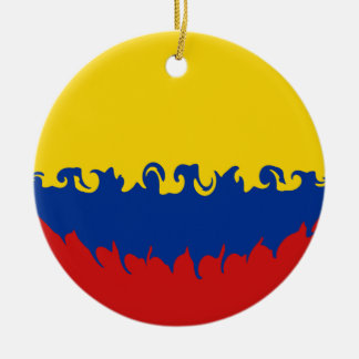 Colombia Gnarly Flag Christmas Ornament