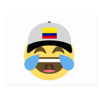 Colombia Hat Laughing Emoji Postcard