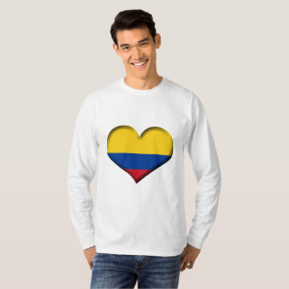 Colombia Heart Flag T-Shirt