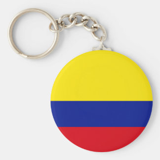 Colombia High quality Flag Basic Round Button Key Ring