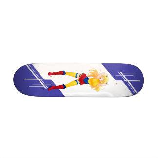 Colombia Manga girl dressed in Flag - Colombian 21.3 Cm Mini Skateboard Deck