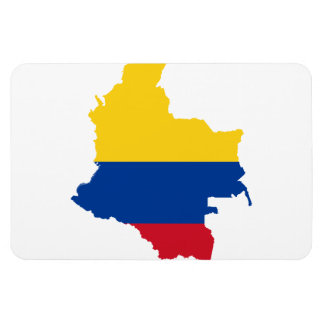 COLOMBIA MAP RECTANGULAR PHOTO MAGNET