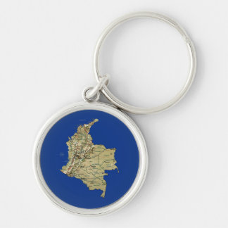 Colombia Map Keychain