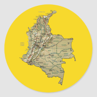 Colombia Map Sticker