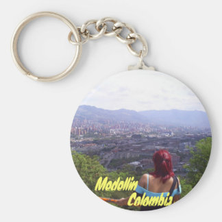 Colombia, Medellin view Key Ring