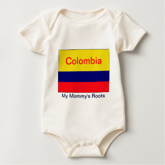 Colombia my mommy's roots baby bodysuit