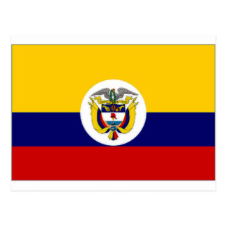 Colombia Naval Ensign Flag Postcard