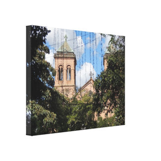 Colombia-Plaza Bolivar-Medellin-Iglesia Gallery Wrapped Canvas