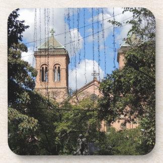 Colombia-Plaza Bolivar-Medellin-Iglesia Beverage Coasters