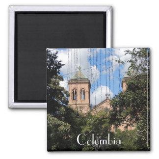 Colombia-Plaza Bolivar-Medellin-Iglesia Magnets
