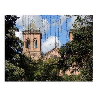 Colombia-Plaza Bolivar-Medellin-Iglesia Postcard