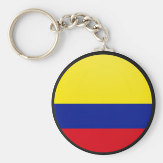 Colombia quality Flag Circle Key Ring