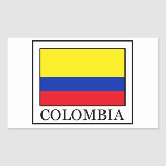 Colombia Rectangular Sticker
