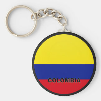 Colombia Roundel quality Flag Basic Round Button Key Ring