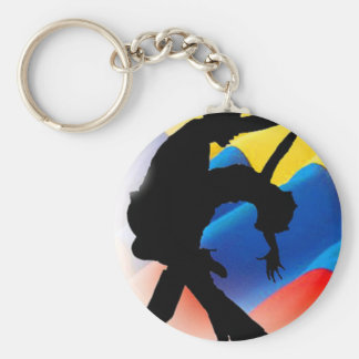 Colombia Salsa Basic Round Button Key Ring