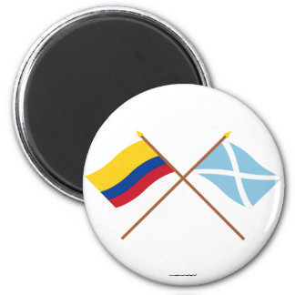 Colombia & San Andrés y Providencia Crossed Flags Magnet