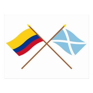 Colombia & San Andrés y Providencia Crossed Flags Postcard