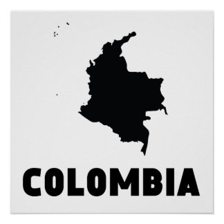 Colombia Silhouette Poster
