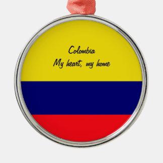 Colombia Silver-Colored Round Decoration